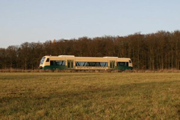 Bahn zwischen Bergen und Lauterbach