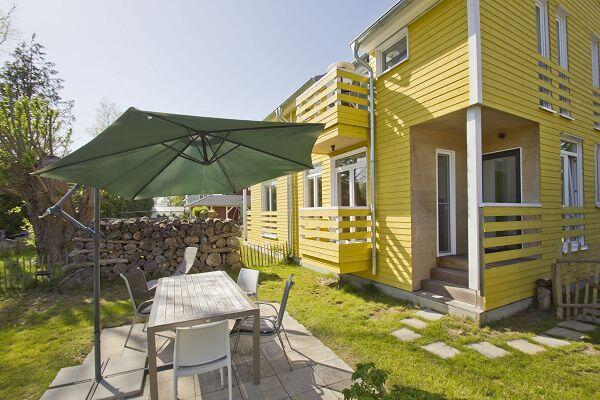 Terrasse vom Ferienhaus Somarstuga in Wiek