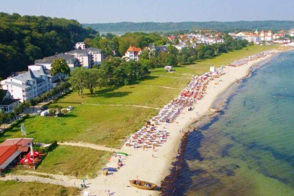 Luftaufnahme Binzer Strand