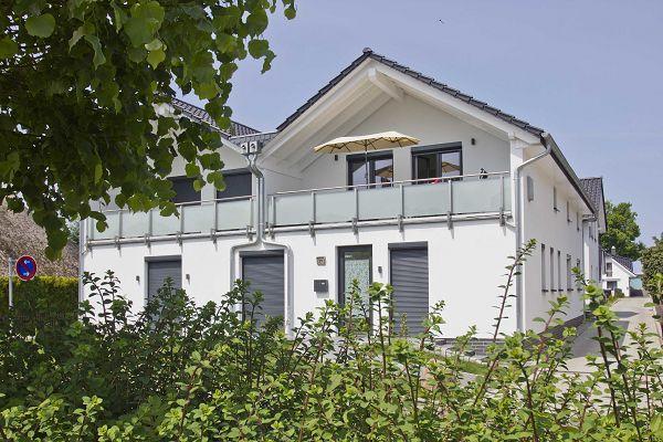 Balkonansicht der Ferienwohnung Helligdom in Breege auf Rügen
