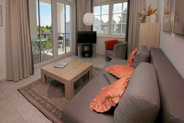 moderner Wohnbereich in der Ferienwohnung 08