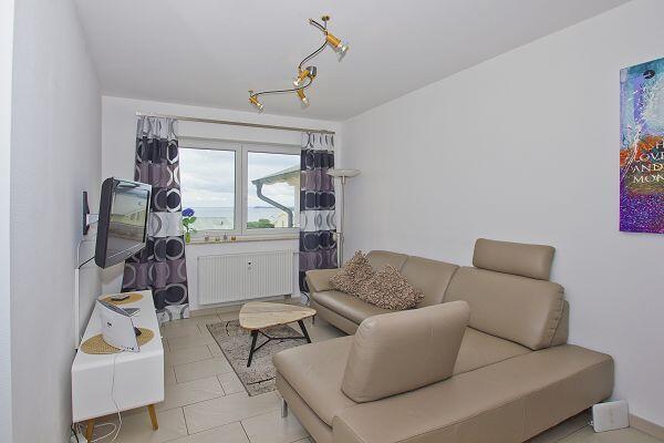 Wohnzimmer der Ferienwohnung Nr. 12 in der Villa Fernsicht