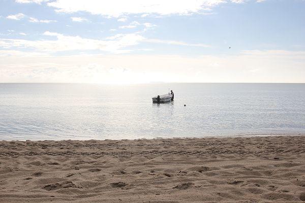 Fischer mit Boot