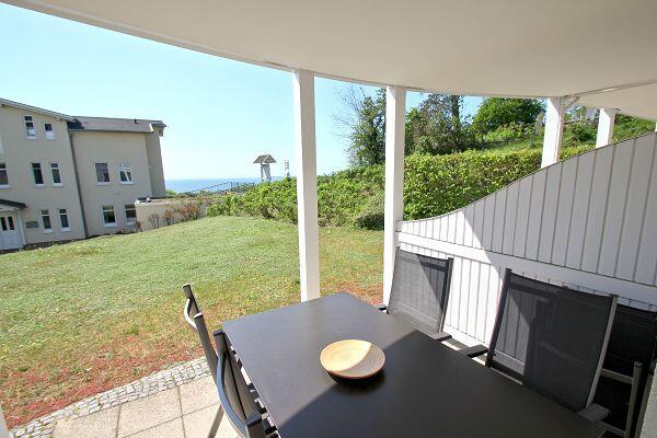 Die Terrasse der Ferienwohnung 19 in den Meeresblick Residenzen