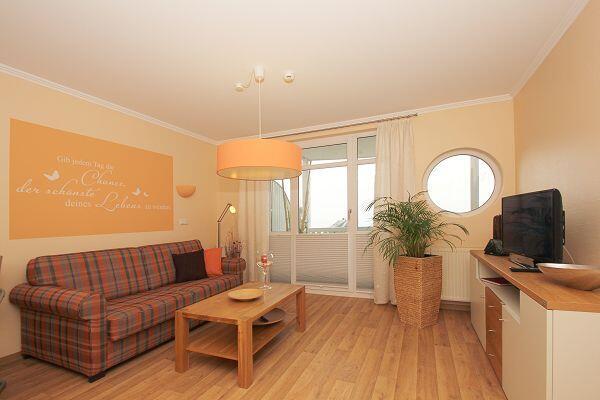 Wohnzimmer der Ferienwohnung 37 in den Meeresblick Residenzen