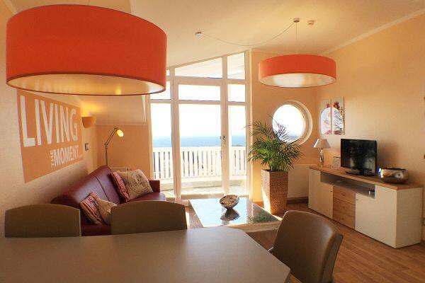 Wohnbereich der Ferienwohnung 40 in den Meeresblick Residenzen