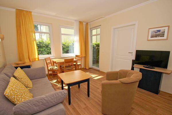 Wohnzimmer Ferienwohnung 43 in den Meeresblick Residenzen