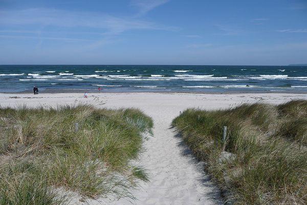 Abgang zum Strand in der Schaabe