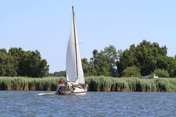 Segelboot in Gager