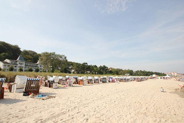 Strandkörbe in Binz am Strand