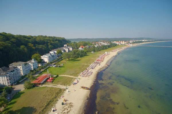 wunderschöne Luftaufnahme vom Ostseebad Binz