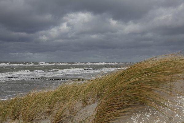 Die Ostsee bei Sturm