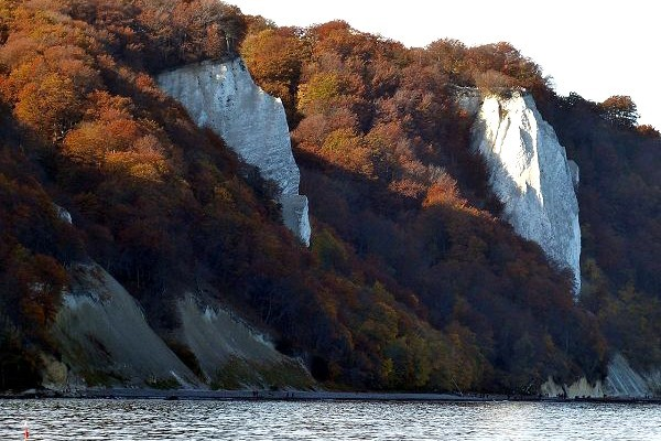 Die Kreidefelsen im Herbst