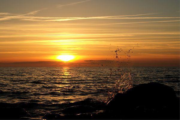 Sonnenuntergang über der Ostsee bei Rügen