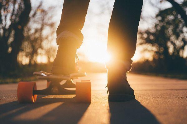 skateboard auf rügen
