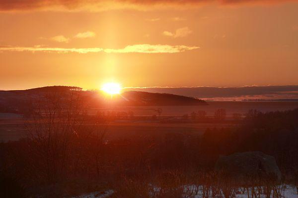 Sonnenuntergang in Zicker Rügen