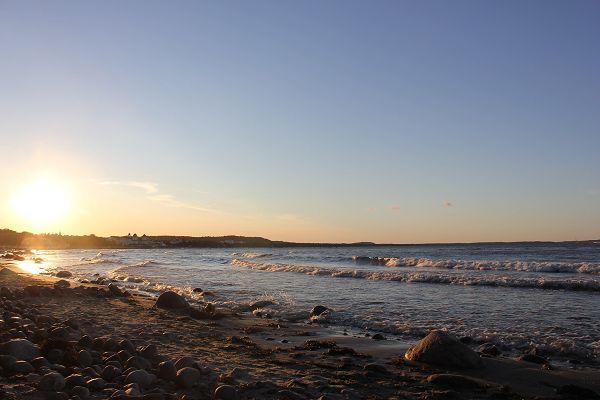 Sonnenuntergang mit Meerblick